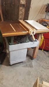 Job Site Table Saw Delta Jobsite Table Saw Cart And Upgrades 7 Steps With Pictures