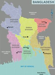 Picture Of Map Map Of Bangladesh Map Regions Weltkarte Com Karten Und