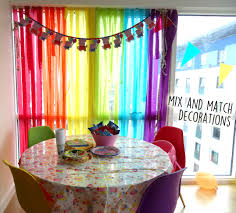 themed decorations dfhqrm rainbow themed party decorations decorating with