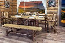 Log Cabin Dining Room Furniture Log Dining Table Ebay