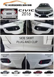 mitsubishi attrage bodykit honda civic 2016 bodykit set max automart gombak