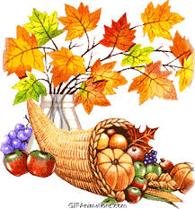 thanksgiving grapes apples pumpkin color changing leaves animation