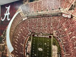 university of alabama wall murals installation tuscaloosa bryant denny stadium wall mural installation