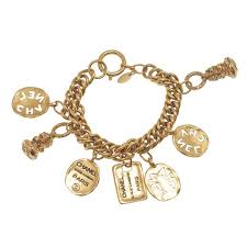 gold plated charm bracelet images Chanel gold plated charms bracelet jpg