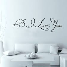 58 15cm pvc art decal ps i love you diy wall sticker home decor 58 15cm pvc art decal ps i love you diy wall sticker home decor poster for kids rooms decals wall decoration in wall stickers from home garden on