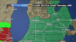 Weather Map Of Michigan by Tracking Storms And Heavy Rainfall Woodtv Com