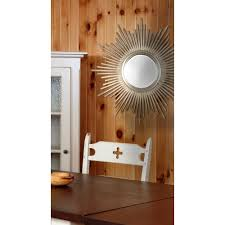 silver metallic mirrors wall decor the home depot
