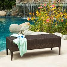 coral coast danson all weather wicker outdoor bench with cushion