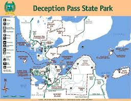 Washington State Parks Map by Deception Pass State Park Maplets