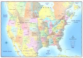 Map Of Canada North America Physical Map Freeworldmapsnet United States