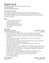 Footlocker Resume Best Nursing Care Partner Resumes Resumehelp
