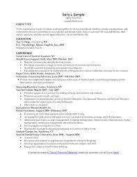 Call Center Resume Objective Examples Sample Resume Objectives For Teachers Virtren Com