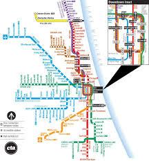 cta line map chicago cta l map subway charts map