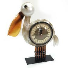 pelican ornament clock figurine statue sculpture bird ornate home