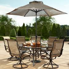 round table patio furniture sets elegant grand resort oak hill sears