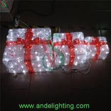 Decorative Christmas Boxes With Lights by Acrylic Lighted Outdoor Christmas Decorations Gift Boxes Buy