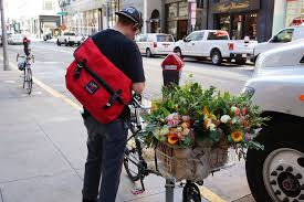 flower delivery san francisco flower delivery by bike in san francisco with a sony flickr