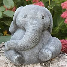 garden ornament elephant cast slate gray co uk