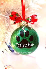 paw print ornament personalized ornaments pet name paw print