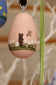 painted wooden easter eggs painted personalized wooden easter egg ornaments coffey