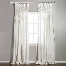 pom pom at home smocked organic linen curtain panel polyvore