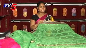 pista green color zoot silk saree tv5 news youtube