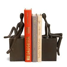 Book End Danya B Man And Woman On Block Cast Iron Bookends Set Of 2