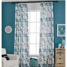 Blue Floral Curtains Blue Floral Custom Curtains For Windows