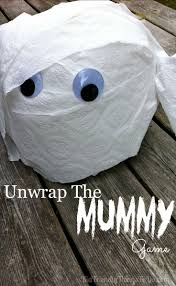 unwrap the mummy halloween party game mummy games hotel