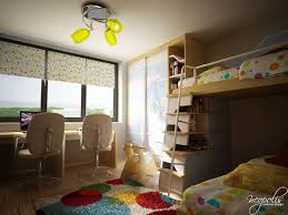 Original Childrens Bedroom Design Showcasing Vibrant Colors - Interior design childrens bedroom