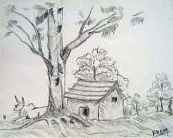 pictures simple landscape sketch drawing art gallery