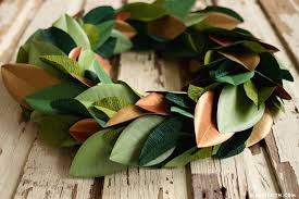 magnolia leaf wreath magnolia leaf wreath diy tutorial