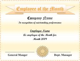 5 employee of the month certificate templates u2013 word pdf ppt