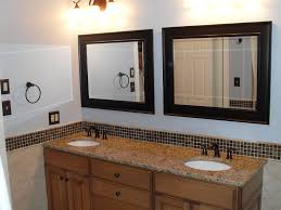 Wood Framed Bathroom Mirrors by Bathroom Bathroom Furniture Framed Wall Mirrors And Black Wooden