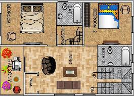 1 bhk floor plan for 30 x 40 feet plot 1200 square feet 2