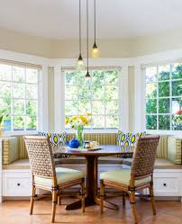 Brass Light Gallery by Dining Room Colonial Interior With Breakfast Nook Feat Round