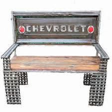 Bench Made From Tailgate Shop Rustic Wood Bench On Wanelo