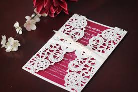 red valentine u0027s wedding invitation