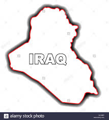 iraq map vector outline map of iraq stock vector illustration vector image