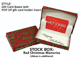 christmas gift card boxes christmas memories gift card box with pop up swipeit