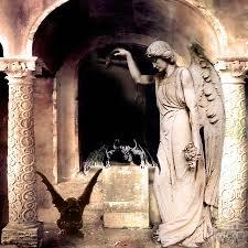 gargoyles angels fantasy dark spooky halloween art photograph by