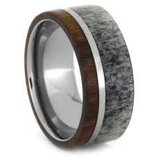 unique wedding band ideas unique wedding ring set antler wedding band wood engagement ring