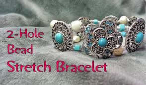 beaded elastic bracelet images 2 hole bead stretch bracelet tutorial make a stretch bracelet jpg