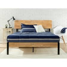 zinus tuscan metal and wood black full platform bed hd hbpbb 14f