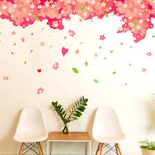 large romantic cherry tree wall stickers bedroom wall decals wall stickers