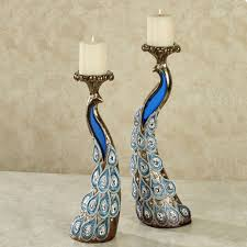 peacocks home decor glass pillar candle holders australia candles decoration
