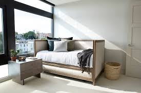 daybed with pop up trundle bedroom transitional with beige