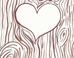 initials carved in tree heart carved in tree clipart clipartxtras