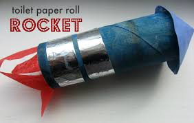 Paper Roll Crafts For Kids - toilet paper roll rocket