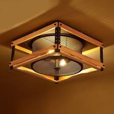 wood flush mount ceiling light 15 inches wide industrial led flush mount ceiling light with wood